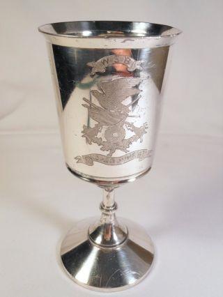 Wsb Chicago Sharp Shooters 1887 Silverplate Trophy Westlichen Schuetzen Bund photo