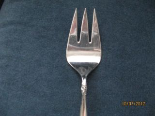 Vintage Silver Plate Meat Fork Garland 1965 Rogers photo
