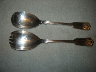 Israel Freeman & Son Silverplate Salad Fork & Spoon Ifs Ltd Shell photo