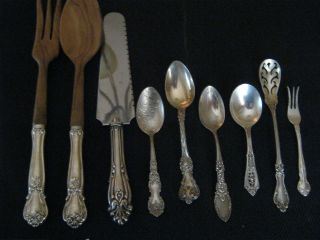 Sterling Silver Serving Pieces (9) - Misc Patterns - Described Below photo