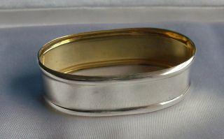 Lovely Sterling Solid Silver Napkin Ring Hallmarked photo