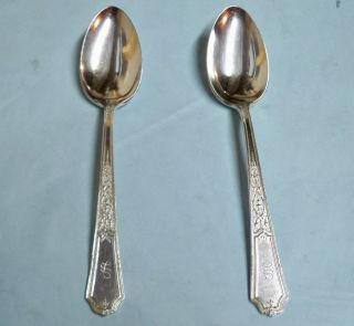 2 Ancestral Serve Spoons - 1924 Classic Rogers - So - Clean & Table Ready photo