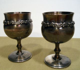 A Pair Of Antique Goblets From The Barbour Silver Company photo