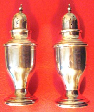 Sterling Silver Salt & Pepper Shakers,  50 Pennyweight photo