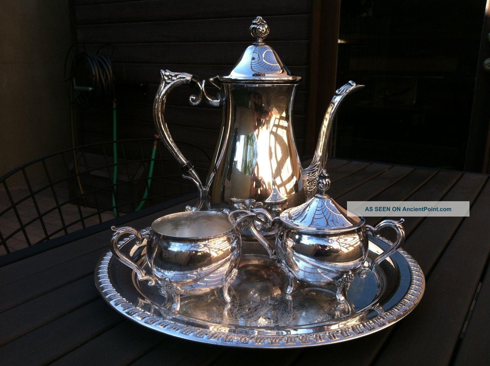 Vintage Leonard Silverplated Coffee Tea Set