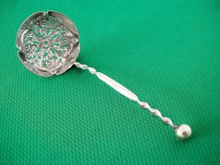 Antique / Vintage Silver Plated Fruit Ladle - Highly Decorative - Excellent Cond photo