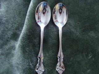 Two 1847 Rogers Tablespoons - Orleans Pattern photo