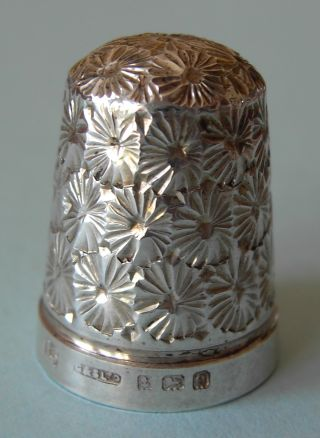 1904 Henry Griffith Solid Silver Thimble,  Hm Birmingham photo