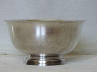 Paul Revere Reproduction Sterling Silver Bowl J.  E.  Caldwell & Co 542grams photo