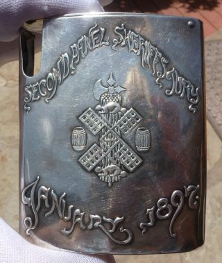 Antique Unique Dominick & Haff Sterling Silver Cigarette Case 1897 photo