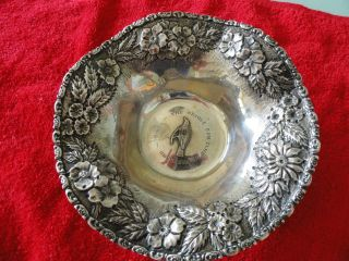 Antique Oriole Gun Club Of Marylandsterling Silver Candy Bowl photo