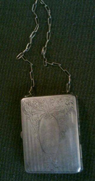 Antique German Silver Change Purse/make - Up Case photo