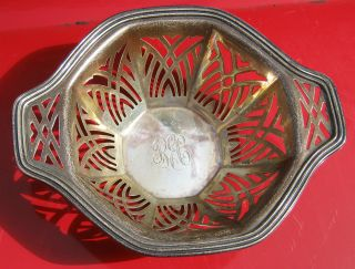 94 Grams Reticulated Sterling Silver 925 Bowl photo