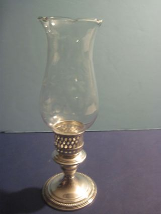 Wm Rogers Sterling Silver Candle Holder photo