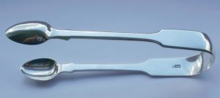 Pair Of Silver Sugar Tongs By Willam Eaton 1839 photo