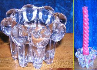 Vmc Remis France Solid Glass Candlestick Holder photo