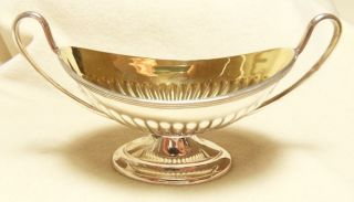 Silver Salt With Gilded Bowl Hallmarked Sheffield 1900 photo