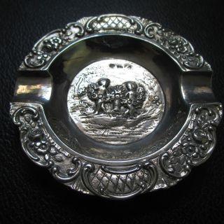 1901 - 1921 German,  Silver Ashtray,  Austria/hungarian Import Mark photo