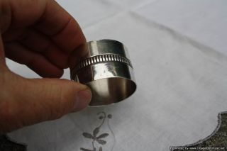 Silver Vintage French Napkin Ring By Christofle photo