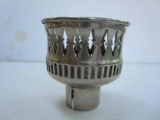 Antique Vintage Candle Holder Peg Insert Silverplate Ornate Design 2