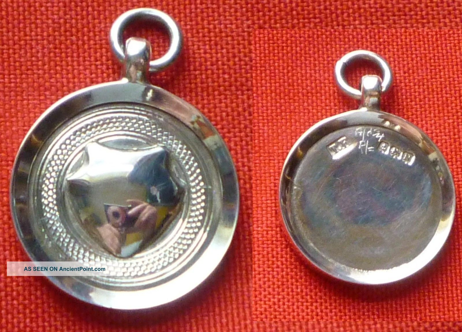 Solid Silver Watch Fob / Medal Box Unused Not Engraved Pocket Watches/ Chains/ Fobs photo
