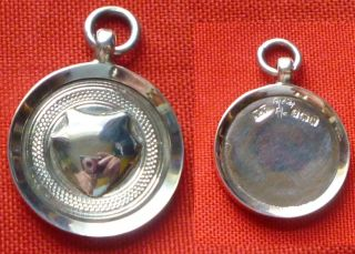 Solid Silver Watch Fob / Medal Box Unused Not Engraved photo