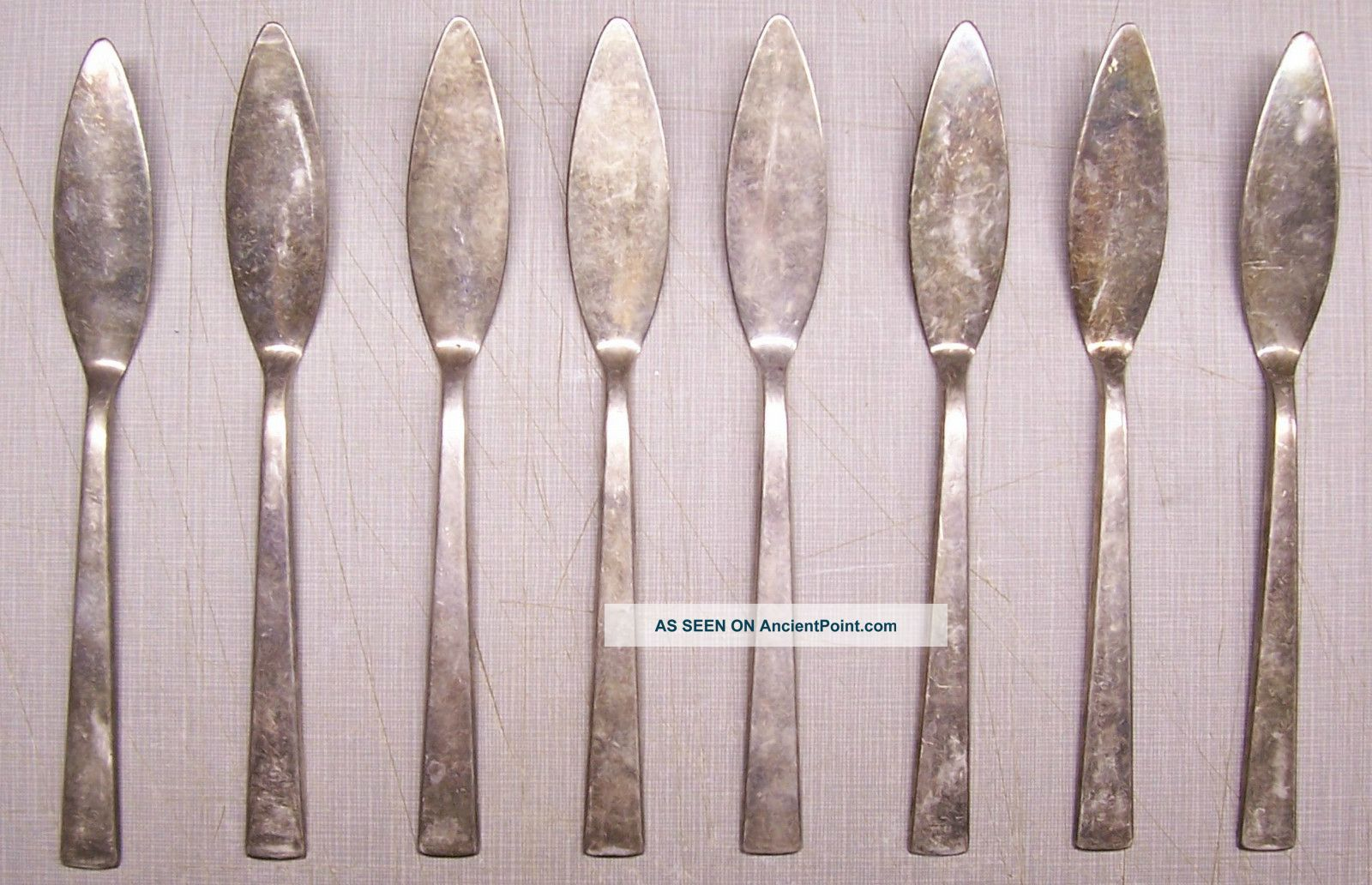 Vintage Set Of 8 Th.  Marthinsen Norway Silverplate Flatware Knife Knives Other photo