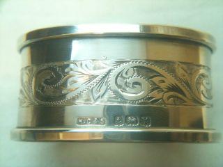 Antique Solid Silver Napkin Ring Birmingham 1923 Ref 290/1 photo