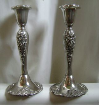 """Absolutely Gorgeous Pair Of Vintage 8 ½"""" Godinger Sp Candlesticks Look photo"""