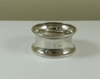 Solid Sterling Silver Napkin Ring - Hallmarked 1910 photo