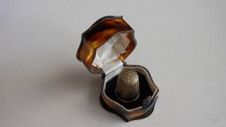 Thimble By Chas Horner In A Faux Tortoiseshell Box photo