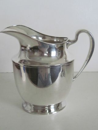 Vintage Silver Water Pitcher - Derby Silver Plate Co. photo