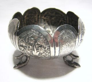 Solid Silver Handmade And Chased Design Bowl 2 - 1/2