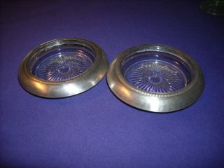 Two Sterling And Crystal Coasters photo