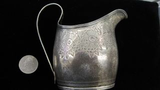 1800s British Sterling Silver Creamer Low/reserve No Paypal photo