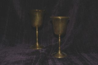 Pair Of Bronze Plated,  With Silver Lined Insides photo
