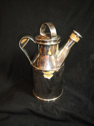 Reed & Barton Milk Jug Cocktail Shaker Silverplate Sp Vintage Heavy photo