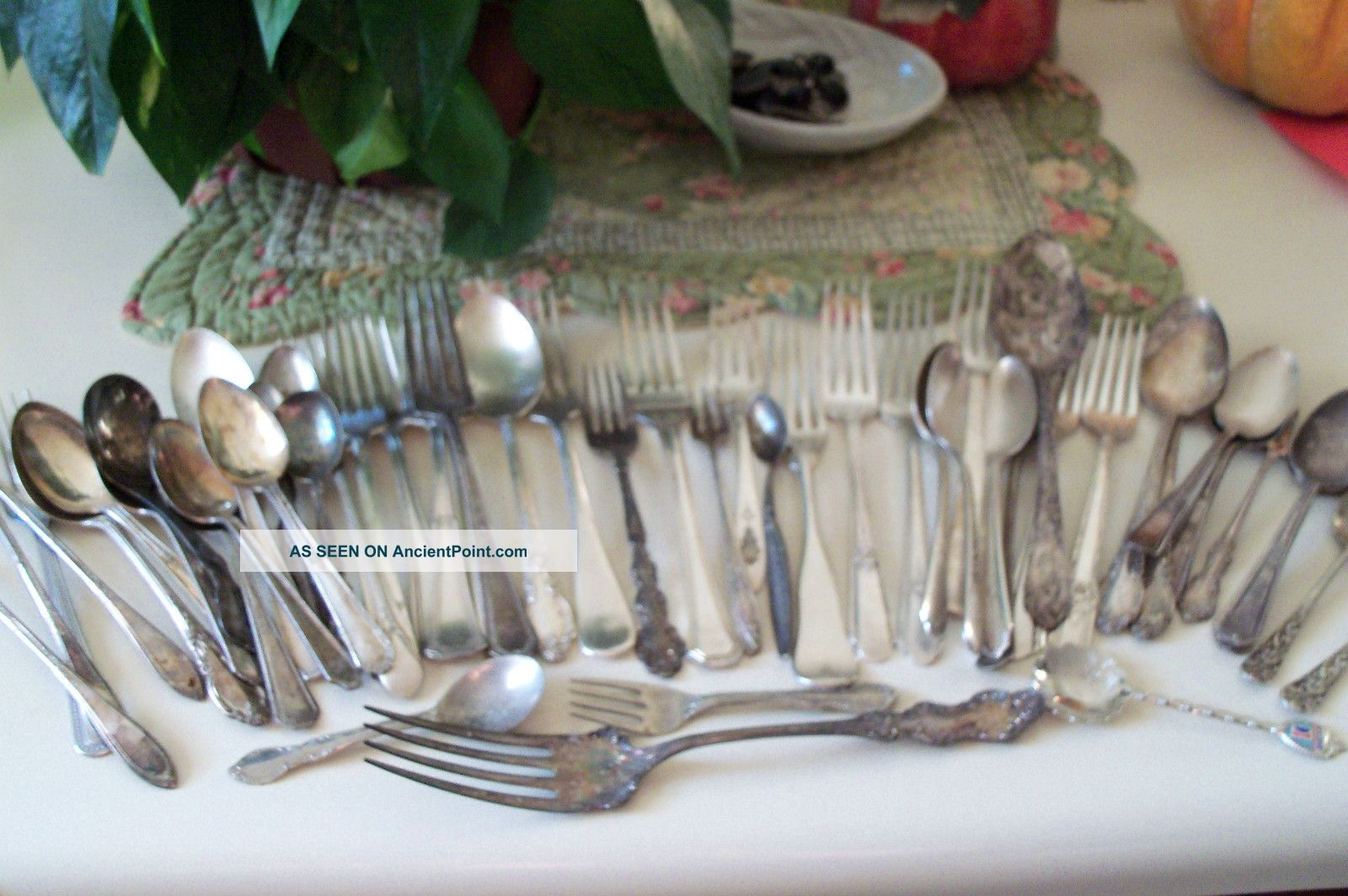 54 Piece Mixed Lot Antique Silver Plate Flat Ware Other photo