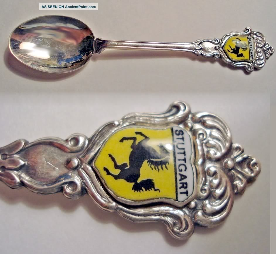 Vtg Germany Stuttgart Silverplate Reu 90 Souvenir Spoon Souvenir Spoons photo
