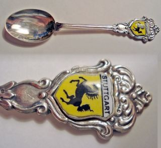 Vtg Germany Stuttgart Silverplate Reu 90 Souvenir Spoon photo
