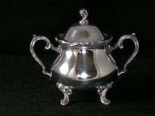 Wilcox International Silver Footed Lidded Sugar Bowl Joanne Sugar Bowl 7203 photo