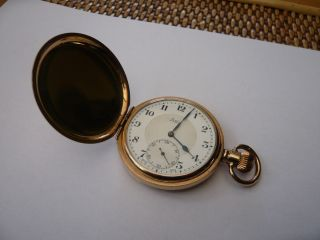 Antique Vintage Quality Full Hunter Pocket Watch Swiss Limit 10ct Gold photo