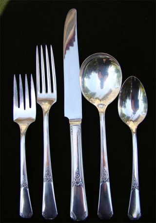 Silverplate Flatware Wm A.  Rogers – 49 Piece Set - Service 8 + Extras photo