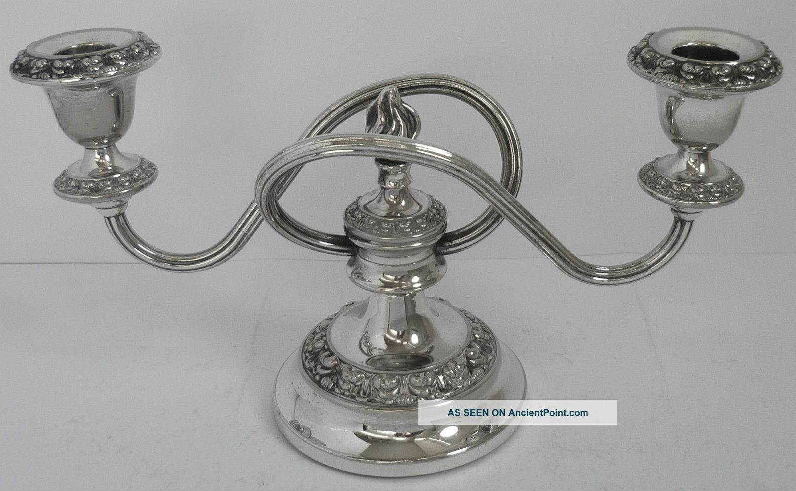 Silver Plated Candelabra Candle Sticks Candle Holder Ianthe England photo & Silver - Silverplate - Candlesticks u0026 Candelabra | Antiques Browser