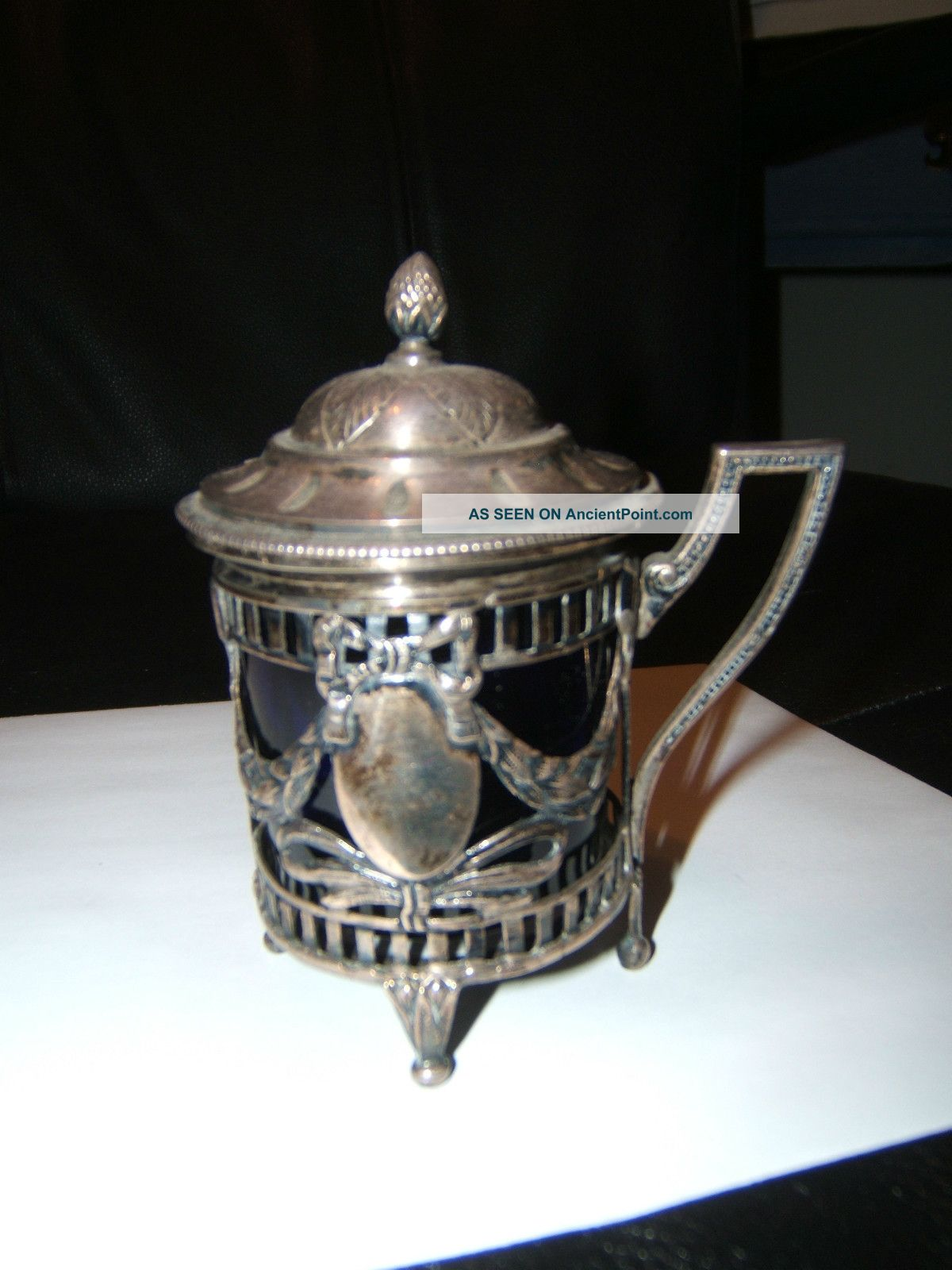 Lovely Early 19th Century Sterling Silver Mustard Pot/jam Jar French ?? Mustard Pots photo