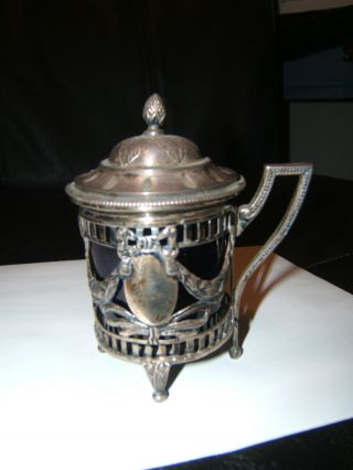 Lovely Early 19th Century Sterling Silver Mustard Pot/jam Jar French ?? photo