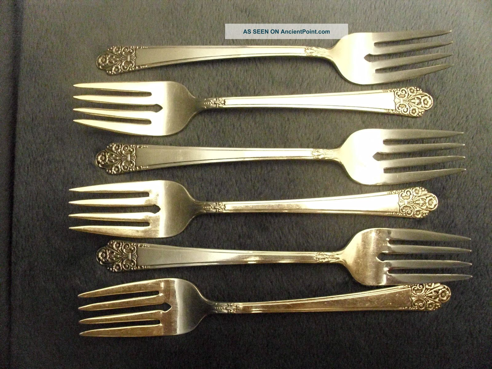 6 Vintage Rogers Deluxe Plate Rogers Precious Pattern Forks Other photo