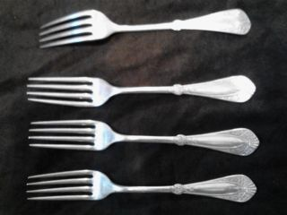 Hall Elton Sliverplated Dinner Forks (4) photo