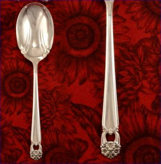 1847 Rogers Eternally Yours Casserole Serving Spoon Vintage 1941 Silver Plate photo