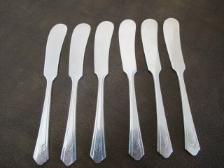 Imperial Chevron Butter Knife Silver Plate - 6 Piece Set photo